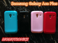 PINK Samsung Galaxy ACE Plus S7500 Slim Soft Silicone Rubber Gel Back Cover Case