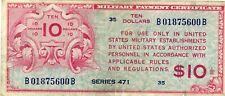 SERIES 471 $10 RARE MILITARY PAYMENT CERTIFICATE NOTE!!!..STARTS@ 2.99
