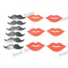 12pcs/set Cake Toppers Lip Birthday Cake Decoration Card For Wedding Party