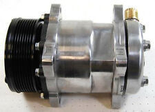Sanden 508 A/C Compressor Serpentine + Chrome Clutch Cover Air Condition 5H14