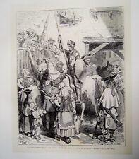 86-7-40 Gravure sur bois 1863 Don Quichotte de Gustave Doré par Pisan