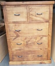 NEW SOLID WOOD RUSTIC CHUNKY PLANK DEEP CHEST OF DRAWERS *MADE TO MEASURE*