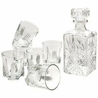 Bormioli Rocco Selecta Whiskey Set of 6 Glasses and Italy Gift Claret jug