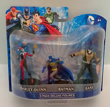 DC Comics 3 Pack Deluxe Figures Harley Quinn, Batman, Bane