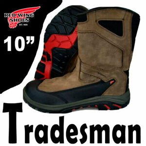 """RED WING TRADESMAN 10"""" WATERPROOF BOOTS LEATHER WORK 4250 ASTMF 2413-11  10.5"""