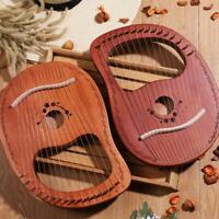 16-Tone Log Lyre Portable Musical Instrument 16-String Solid Wood Veneer Lyre