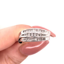 0.55ct Round Brilliant and Baguette Cut Right-Hand Ring in 14k White Gold