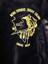 Reno / Sparks Indian Colony Smoke Shop VINTAGE Satin Pullover Jacket MED US MADE