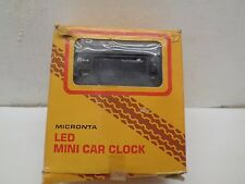 Micronta 63-837A LED Mini Car Clock Tachometer  in box old stock vintage