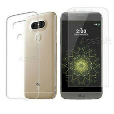 3D Full Screen Temperedglass Film+Slim Soft Skin TPU Case f T-Mobile LG G5 H830