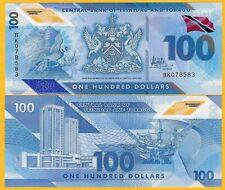 Trinidad & Tobago 100 Dollars p-new 2019 Polymer UNC Banknote