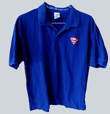 Vintage SUPERMAN POLO Warner Bros Store Exclus. Blue Short Sleeve Shirt