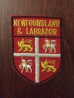 Vtg Newfoundland & Labrador Embroidered Sew On Patch Canada Travel Souvenir NFLD