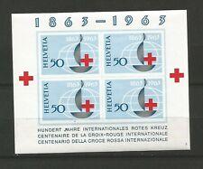 Suisse 1963 Croix-Rouge un feuillet non dentelé neuf sans charnière MNH / T6554