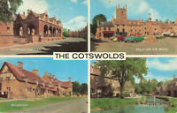 Rare Scenic Postcard The Cotswolds Broadway/Campden/Slaughter England (Aug 1972)