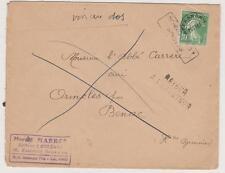 N°51 oblitéré lettre  Orléans pour ORINCLES PAR Benac CV : 20€