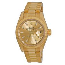 ROLEX Lady 18K Yellow Gold 26mm President Datejust 179178 Box Warranty MINTY