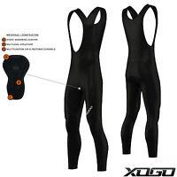 XOGO Cycling Bib Tights Padded Cycle Long Trousers Pants Leggings Anti Bac Pad