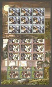 Belarus: 3 mint full sheets, animals - bats, 2006, Mi#634-636, MNH.
