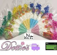 HALAL Sweet Cones Pre Filled (FREE PERSONALISED STICKERS) **Choice of colours*