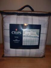 Chaps Home Foxford Gray Plaid 3PC King Comforter Set  NIP