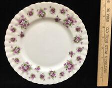 Dessert Salad Plate Royal Albert Sweet Violets Purple Fine Bone China Porcelain
