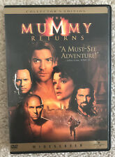 The Mummy Returns DVD 2001 Widescreen Collector's Edition The Rock WWE EUC