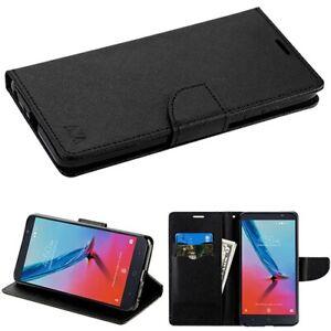 For ZTE Blade Z Max Sequoia Leather Flip Wallet Case Cover Magnet Clip Hybrid