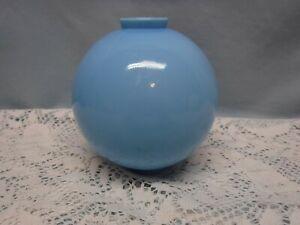 "Antique / Vintage BLUE MILK GLASS LIGHTNING ROD BALL 5"""