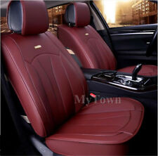 PU LEATHER Burgundy Red Car Seat Covers Waterproof Mitsubishi Lancer Mirage ASX