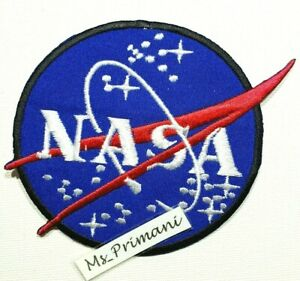 Embroidered NASA Iron/sew On Patch Badge for Astronaut Space 11x 8.5cm approx