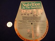"#2 of 8, NEAT OLD 'VTG' 1988 USA PAPER ""SLIDE RULE"" - ""NUTRITION BY-THE-NUMBERS"""
