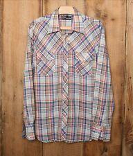 Vintage Tom Sailor Multi-Color Plaid Snap Button Front Western Shirt Sz. L