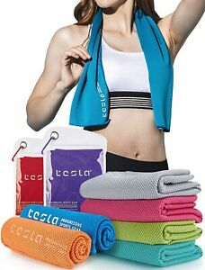 TSLA 1 or 2 Pack Microfiber Cooling Towel, Quick Dry Wrap Chill Ice Towel for Yo