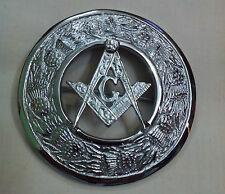 "Scottish Fly Plaid Brooch Masonic Silver Finish 3""/Masonic Brooch/Sash Brooches"