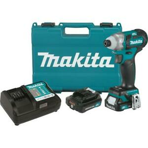 Makita DT04R1 12V MAX CXT Lithium-Ion Brushless 1/4 Cordless Impact Driver Kit