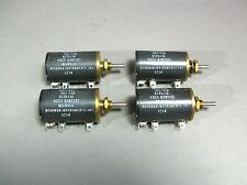 Helipot Beckman Instruments SAJ 218 Potentiometer Lot of 4 Free Shipping - New