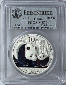 2011 - Chinese Silver Panda PCGS MS 70 UNC -  112835S