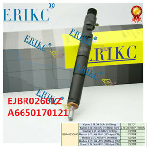 A6650170121 EJBR02601Z Diesel Common Rail Fuel injector for SSANGYONG Kyron