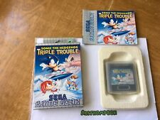 Sonic the hedgehog triple trouble Sega game gear boxed complete with manual