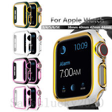 For Apple Watch iWatch 38/42/40/44mm PC Plating Cover Protect Bumper Hard Case