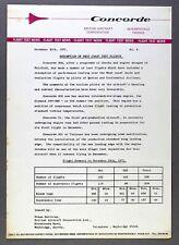 CONCORDE MANUFACTURERS FLIGHT TEST NEWS NOVEMBER 1971 WEST COAST TEST FLIGHTS