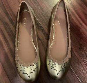 RedValentino Gold Star Flats. Size 5. Brand New.  Retail- $900
