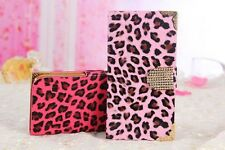 Luxury Animal Leopard Print Flip Phone Case Cover for iPhone 5 5S