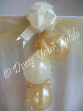Golden 50th Wedding Anniversary Party CAKE TABLE Decoration Pack - Balloons etc