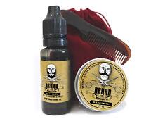 Premium Beard Starter Kit - Mustache Wax, Beard Oil, Comb & Bag Grooming Kit