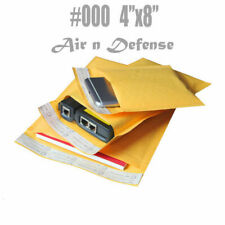 500 #000 4x8 Kraft Bubble Padded Envelopes Mailers Shipping Bags AirnDefense
