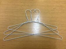 "200x 13G 16"" White Plain Strong Metal Wire Hangers Coat Suit Trouser 40cm"