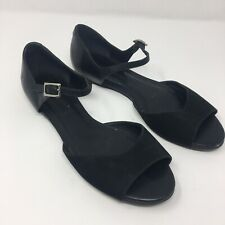 Bernardo Black Ankle Strap Flat open toe sandals 7.5M