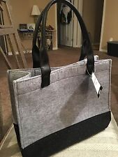 ~NWT~ Yankee Candle Gray Black Tote Bag Purse Polyester